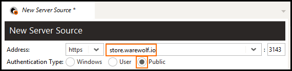 new server source in warewolf explorer