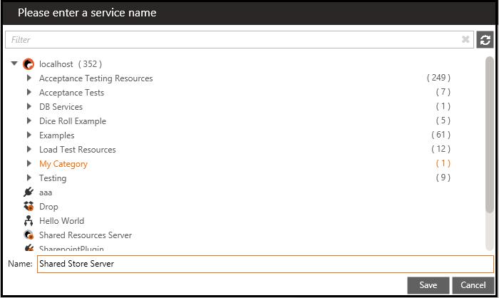 enter service name