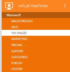 Virtual machine images in Azure