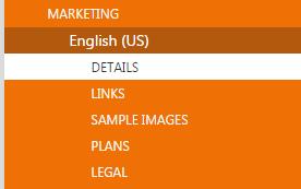 Virtual machine details for marketing