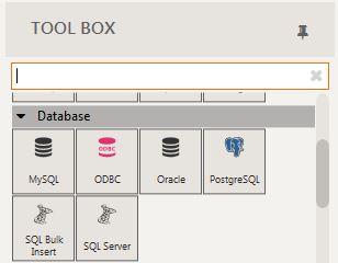 Warewolf database connectors in toolbox