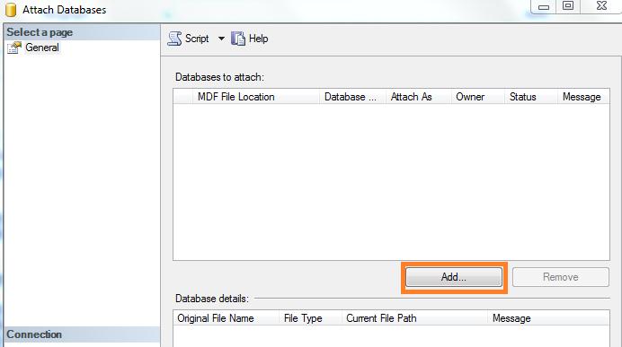 SQL Server - ADD