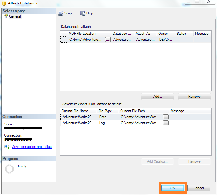 SQL Server - AdventureWorks2008 added