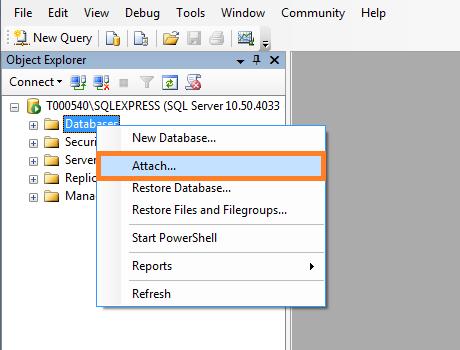 SQL Server - Attach