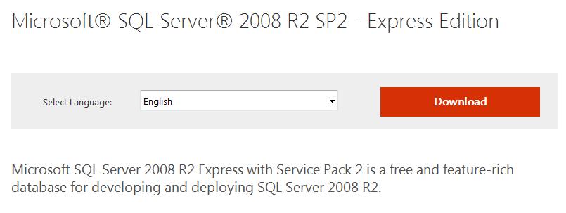 Screenshot of Download MySQL Server Express