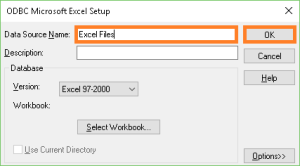 ODBC Microsoft Excel Setup used in ODBC Drivers for Warewolf  blog