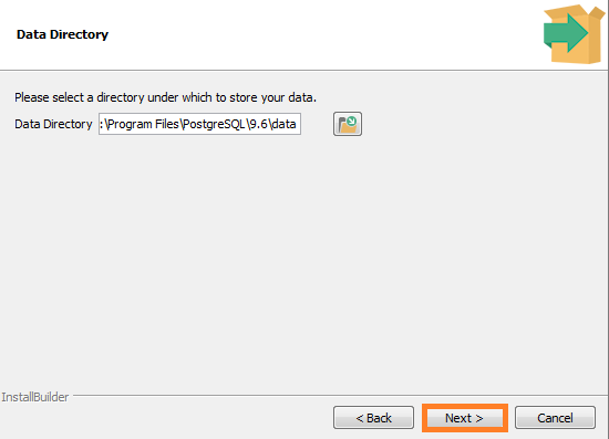 Screenshot of Data Directory - PostgreSQL Installation for the Warewolf Blog