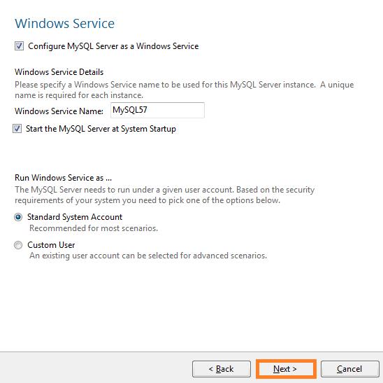 warewolf blog - mysql - window service