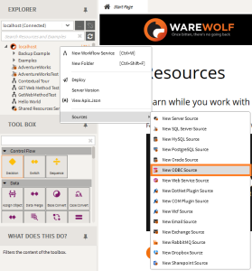 Warewolf-New-ODBC-source as seen in the ODBC Drivers for Warewolf blog