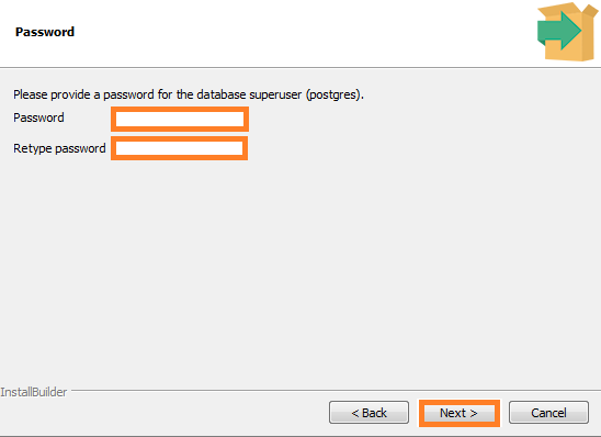 Screenshot of Provide a Password for postgres used in the Warewolf blog