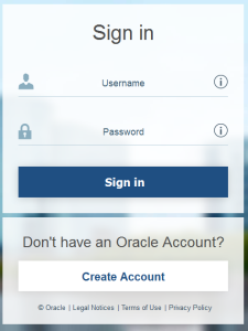 Screenshot of Sign in to Oracle for the Warewolf Blog