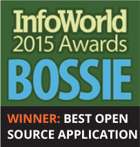 Info World 2015 Awards BOSSIE. Winner : Best open source application