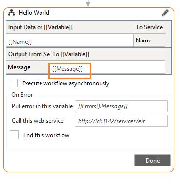 Hello World - Input Data and Output data