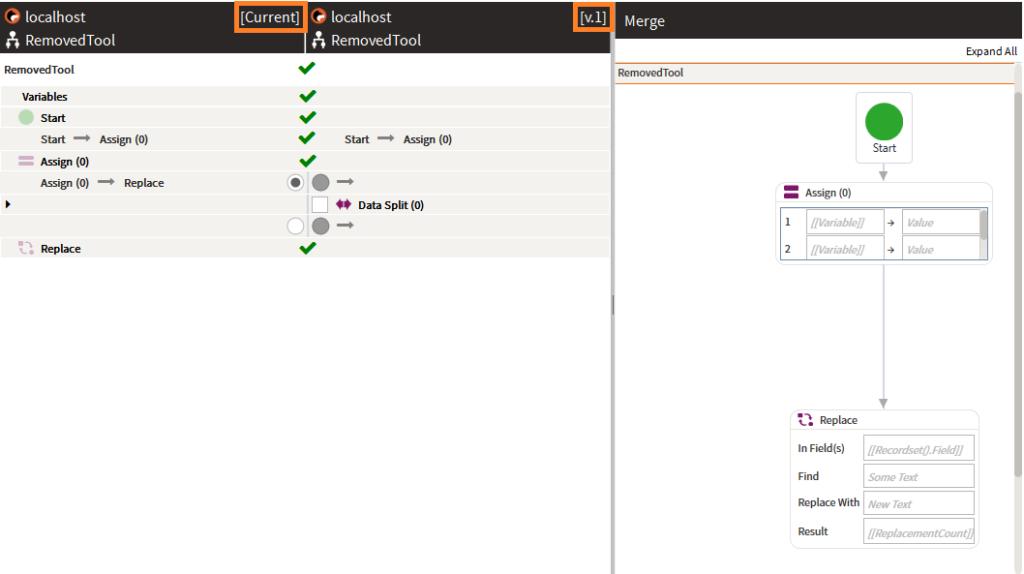 Merge Tool Screenshot
