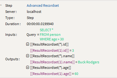 Advanced Recordset Debug - as seen in Warewolf Kb article