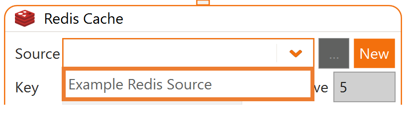 Select Redis Source from Dropdown