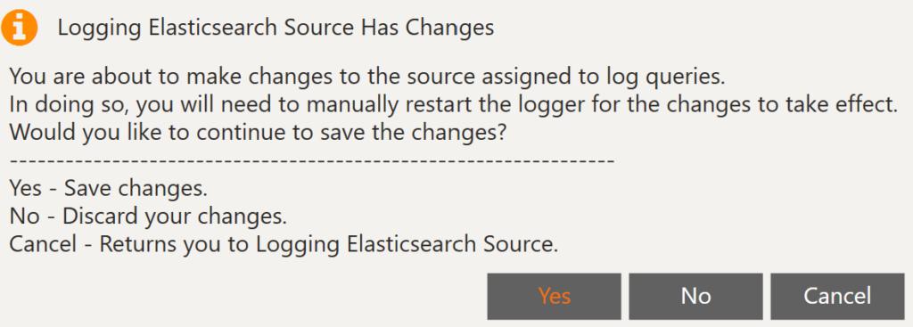 Save Elasticsearch Source PopUp